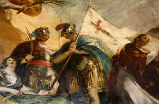 Detalle de la cúpula Regina Martyrum, Basílica del Pilar